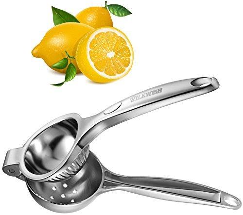 Lemon SqueezerWilkwish Professional Lemon Juicer Press1810 Stainless SteelCitrus Juicer