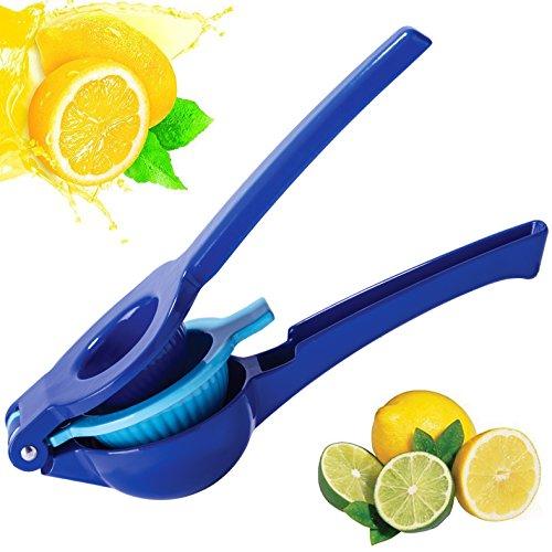 Lemon Squeezer Anti-corrosive Citrus Press Juicer 2-in-1 Multifunction Manual Blue Lime Juicer Walnut Clip Extractor