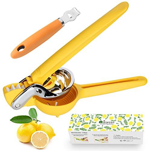 Lemon Squeezer Citrus Juicer Premium Quality Stainless Steel Juice Press Large Manual Lemon Juicer With Acid Proof Handle By Szezon