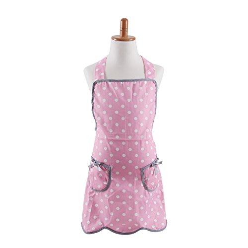 Neoviva Cotton Twill Garden Apron for Kid Girl Polka Dot Pink