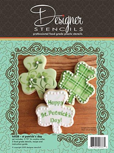 St Patricks Day Shamrock Cookie Cutter Stencil Set by Designer Stencils
