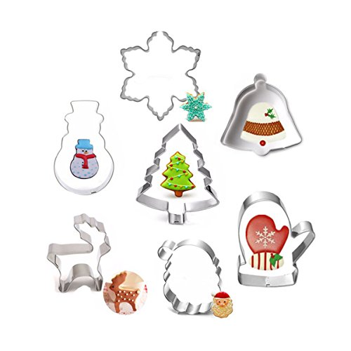 Aomon Christmas Cookie Cutters Set 6-10cm- Pack of 7