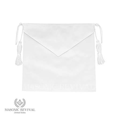 Masonic Revival - White Candidate Member Apron Lambskin