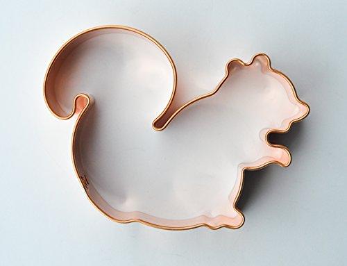 ecrandal Squirrel copper cookie cutter