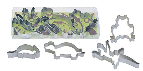 R&M International 1937 Critters Cookie Cutters Lizard Mouse Turtle Frog 4-Piece Set