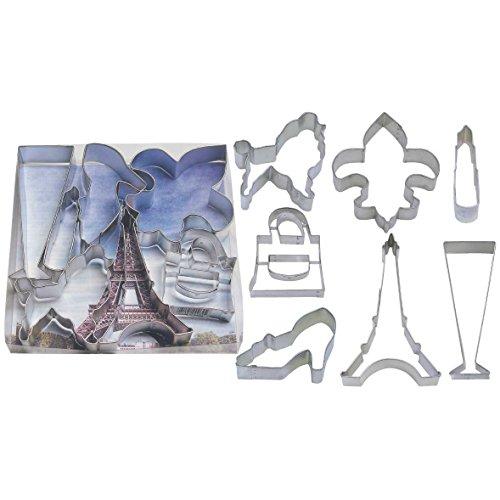 Paris Tin Cookie Cutter 7 Pc Set L1890