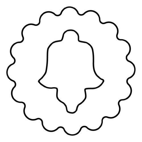 Kaiser Bakeware Linzer Fluted Bell Cookie Cutter Tinned Steel by Kaiser