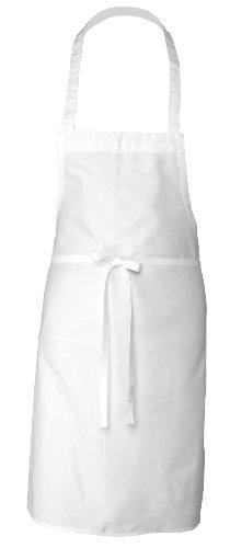 Chefs Apron White Bib Apron 32-Inch by 36-Inch