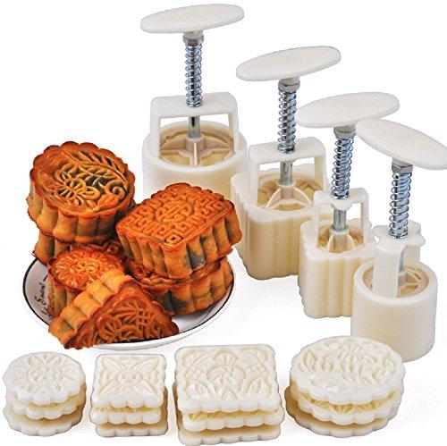 cyfellbiu Manual pressure moon cake mold baking mold Christmas Cookie Maker Tool