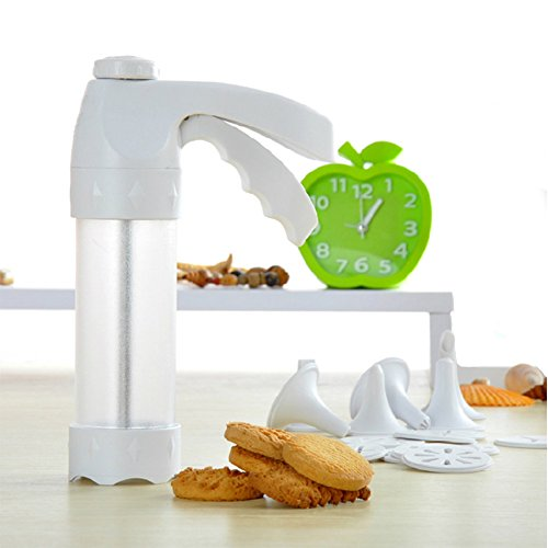 Cookie Press Kit Biscuits Cookie Molds Gun Food grade Plastic Cookie Gun Set with 12 Discs and 6 Icing Tips