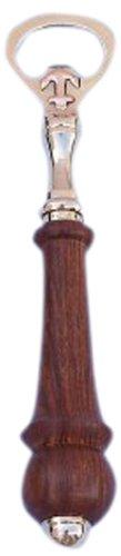 Hampton Nautical  Brass and Wood Anchor Bottle Opener Brass