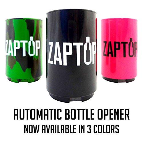 Zaptop Automatic Beer Bottle Opener with Magnetic Cap Catcher - Opens Bottles Instantly - Black