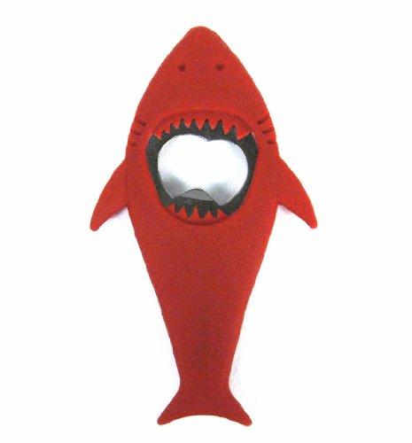 Present Time Shark Bottle Opener Red