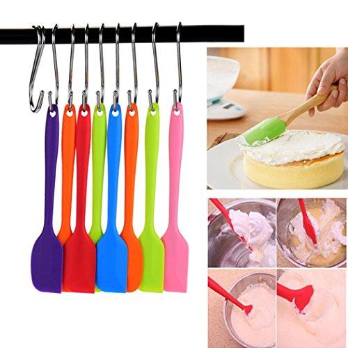 Muxika Attractive Heat Resistant Flexible Silicone Spatulas Cake Spatula Scraping Baking Scraper Cooking Random Color 1Pc