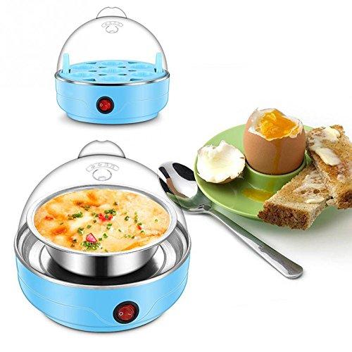 Mini Steamer Poacher Kitchen Cooking Tool US Plug 350W Light Blue 220V 50HZ Multifunctional Electric 7 Egg Boiler Cooker -Pier 27