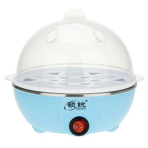 UNAKIM--Clear 7 Eggs Boiler Steamer Electric Poacher Breakfast Cooker Poacher 220V 50HZ blue