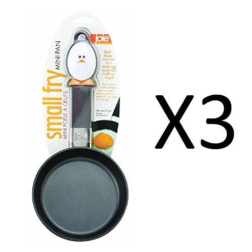 Joie de Vivre Mini Fry Egg Pan with Nonstick Surface - PACK 3
