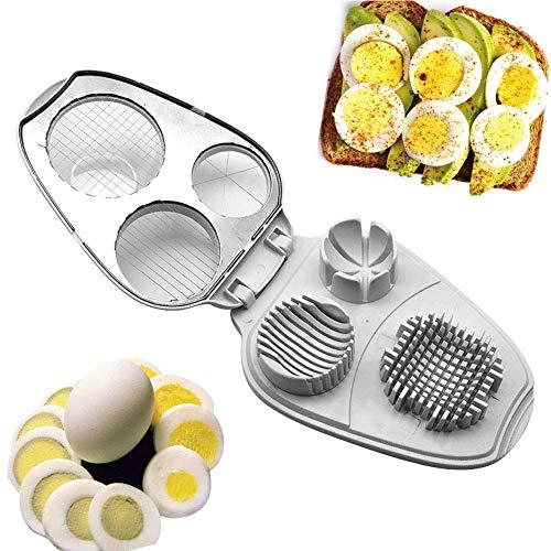 Multi-Egg Slicer 3 In 1 Eggs Slicer Cutter Wedging Eggs Slicer Multifunctional Stainless Steel Eggs Slicer Hard Boiled Eggs Slicer Tool
