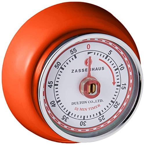 Zassenhaus M072389 Retro Magnetic Kitchen Timer orange Renewed