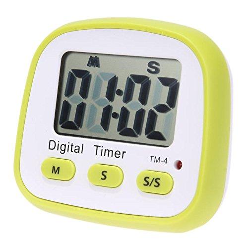 EmbiofuelsTM Kitchen Countdown Timer Practical Cooking Timer Refrigerator Sticker Reminder LCD Digital Timer 99m99s Time Display
