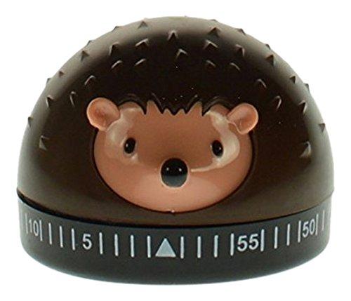 Kikkerland Hedgehog 60-Minute Kitchen Timer Brown