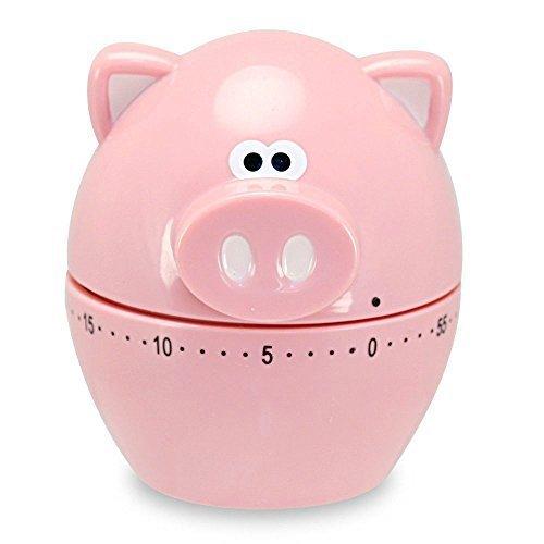 Piggy Wiggy 60 Minute Kitchen Timer - Oink Pig Joe Joie Egg Eggy by Brand new