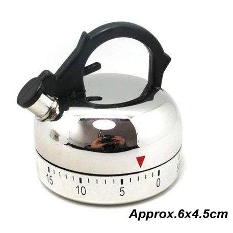 Plum Garden 60 Minute Kitchen Timer Alarm Mechanical Teapot Shaped Timer Clock Counting Tool