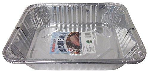 Durable Packaging  Aluminum Roasting Pan 11-34 x 9-14 x 2-12 12 Packs of 2 Pans
