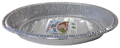 Durable Packaging Medium Oval Aluminum Roasting Pan  16 -12  x  11-12 x  2-12 Pack of 12