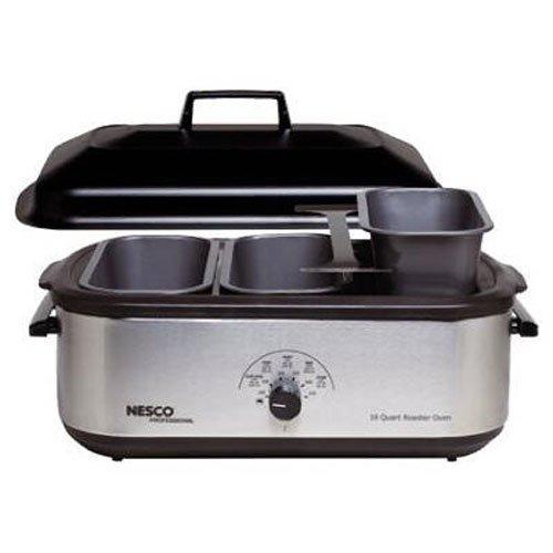 Nesco 4908-12-40PR 3-Piece Buffet Server Pans fits any 18-Quart Roaster Oven