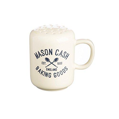 Mason Cash Varsity Ceramic Flour Shaker 4-Ounces Cream Navy Blue