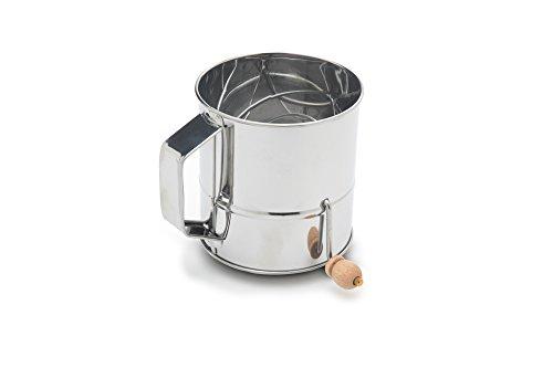 Fox Run 4638 Flour Sifter Stainless Steel 3-Cup