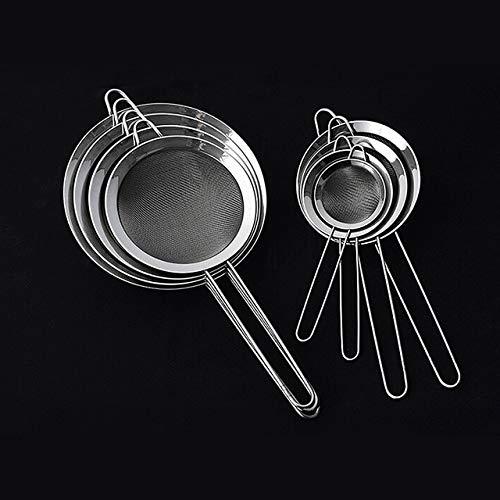 BIRD WORKS Mayitr 1pcs Stainless Steel Wire Fine Mesh Oil Strainer Colander Spoon Flour Sifter Sieve Kitchen Tools Gadgets 14cm