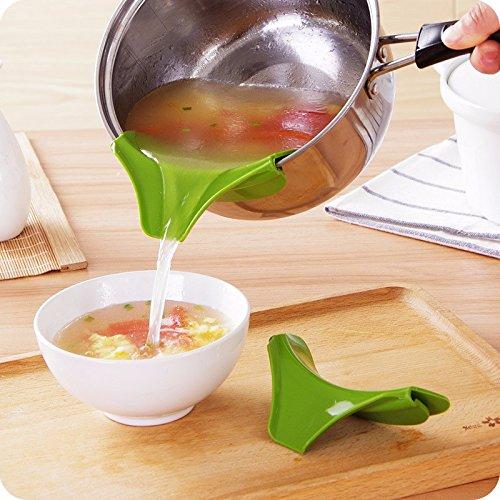 Kitchen Ware LLC 1 PC Kitchen Pot Round Deflector Edge Creative Kitchen Tools Liquid Silicone Funnel Kitchen Tools Kitchen Accessories