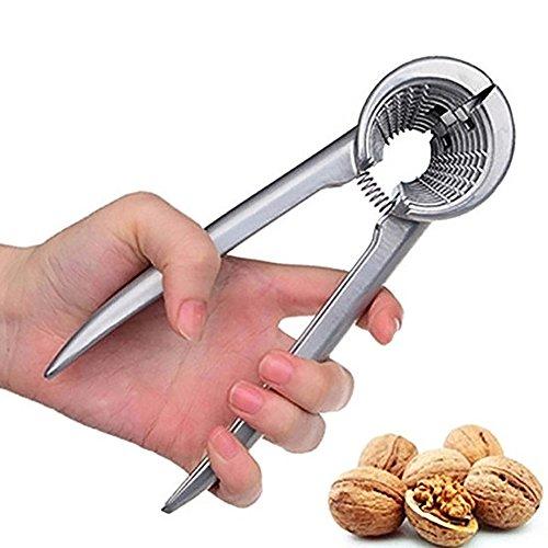 WFENGT 1pc Funnel Nutcracker Type 1Pcs Fruit Vegetable Tools Nutcracker Aluminum Home Walnut Pliers Nut Holder Funnel Kitchen Tools food eating Nutcracker