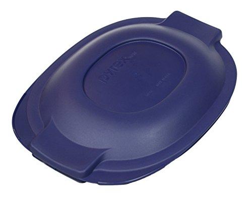 Pyrex 702-PC Blue 2 Quart Glass Oval Roaster Lid