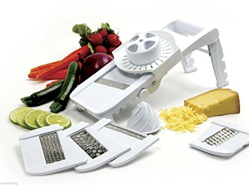 Comixpro 306 Mandoline Slicer Grater Juicer Guard Vegetables Fruit Julienne Waffle