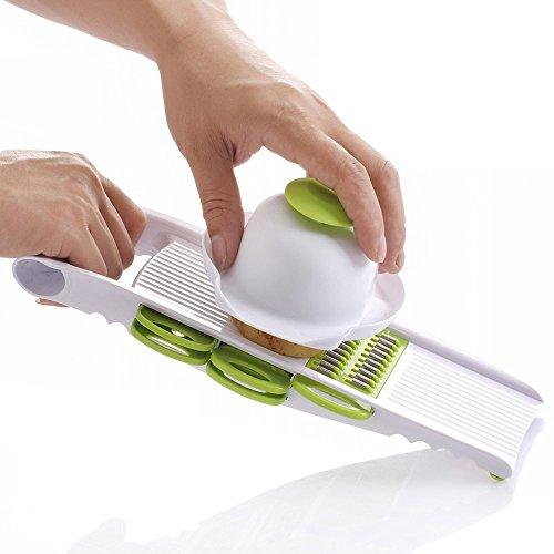 MyLifeUNIT Mandoline Slicer Grater Set - Thin Julienne Slicer Cutter Waffle Slicer and Shredder