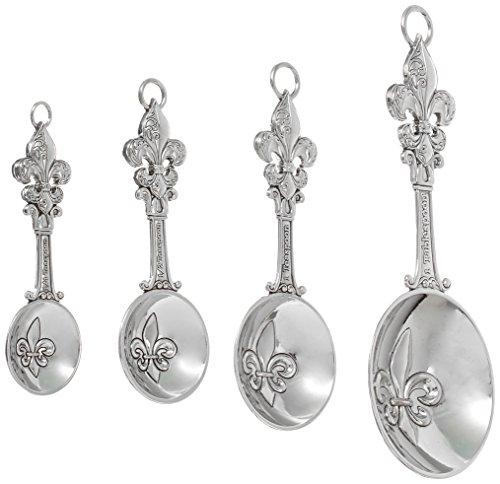 Ganz 4-Piece Measuring Spoons Set Fleur De Lis