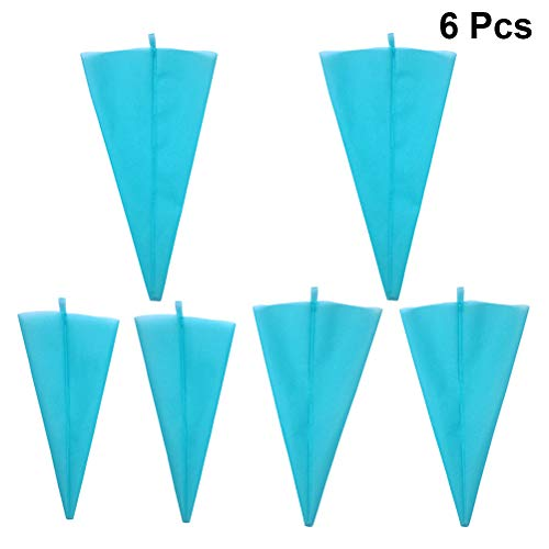BESTONZON 6PCS Pastry Bags Silicone Piping Bags Reusable Icing Piping Cream Pastry Bags DIY Cake Decorating Tool