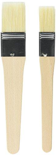 Kaiser 769516 Pastry Brush-Set 2Pcs Of Wood Brown