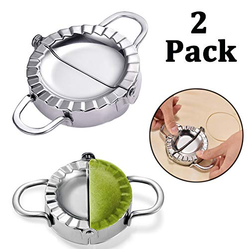 Stainless Steel Dumpling Maker Empanada Press Ravioli Maker Mini Pie Maker Wonton Wrappers Mold Multifunctional Kitchen Accessories Set of 2pcs 2 Sizes