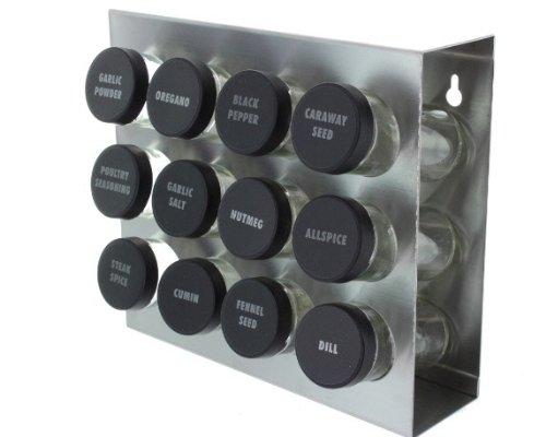 Prodyne M-912 Stainless Steel Spice Rack 12-Bottle