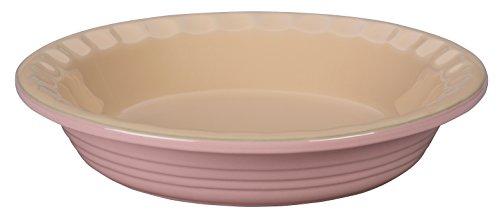 Le Creuset of America Stoneware Pie Pans 9-Inch Hibiscus