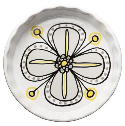 Sagaform 5016363 Bloom Stoneware Pie Plate