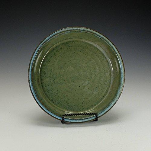 Stoneware pie plate Blue green