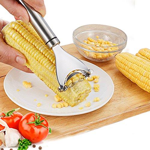Corn PeelerLangxian Stainless Steel Kitchen Corn Stripper Corn Cutterand Kernel Cutter Tools