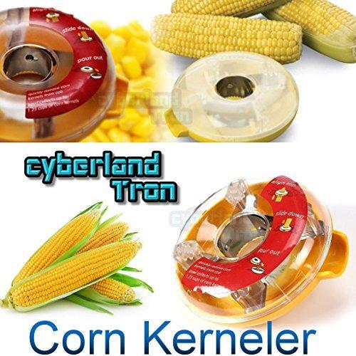 CyberlandTron New One-Step Corn Kerneler Slicer Peeler Thresher Tool Kitchen Cob Cutter Stripper Remover