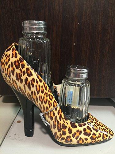 High Steppin Spice Leopard High Heel Salt and Pepper Holder