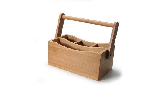Natural Living Bamboo Flatware Caddy
